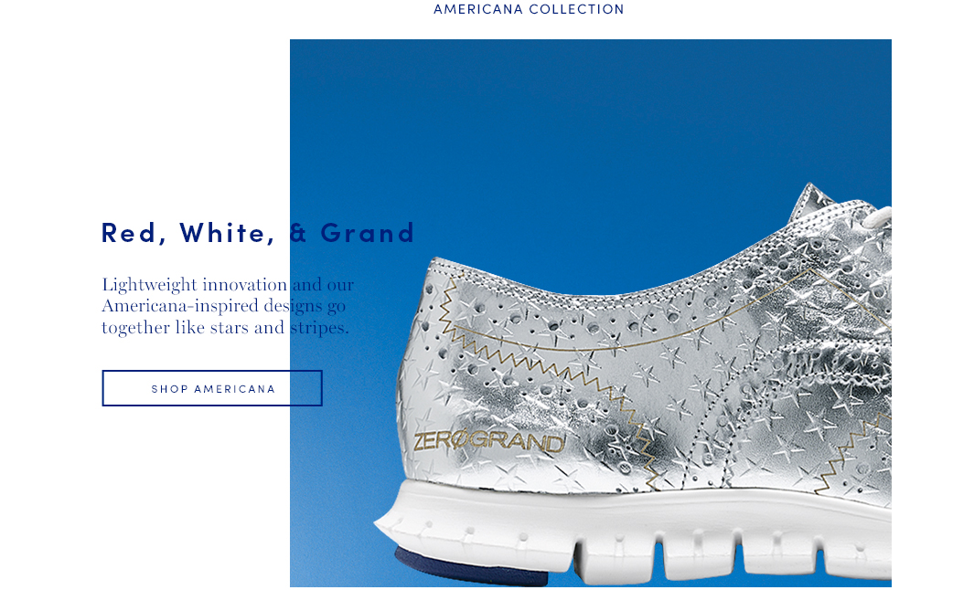 Red, White and Grand: Lightweight innovation and our Americana-inspired designs go together like star and stripes
