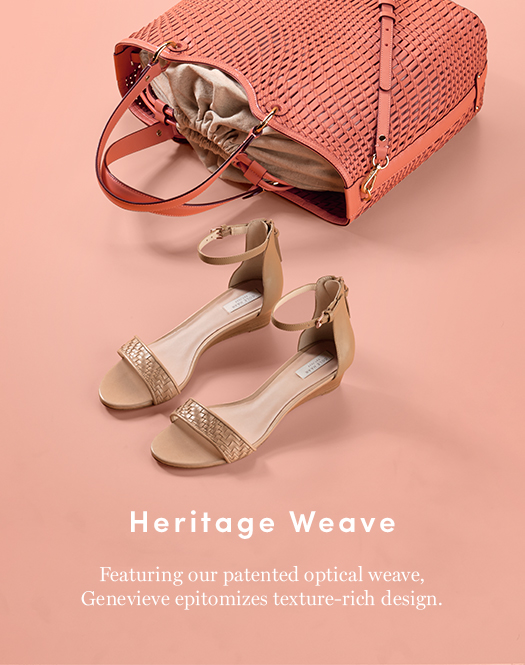Heritage Weave: Featuring our patented optical weave, Genevieve epitomizes texture-rich designs.