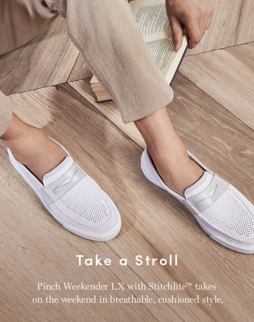 Take a stroll: Pinch Weekender LX with Stitchlite takes on the weekend in breathable, cushioned style.