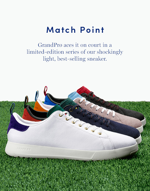 Match Point: GrandPrø aces it on court in a limited-edition series of our shockingly light, best-selling sneaker.