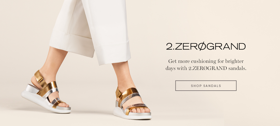 2.Zerøgrand - Get more cushioning for brighter days with 2.zerøgrand sandals.