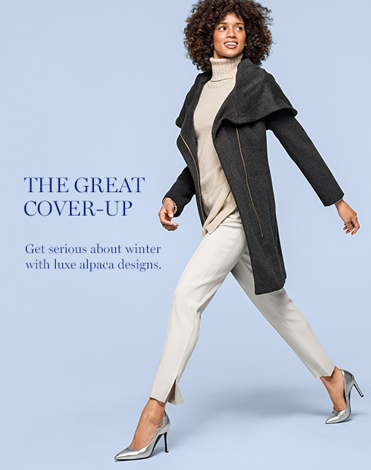 The Great Cover-Up: Get serious about winter with luxe alpaca designs.
