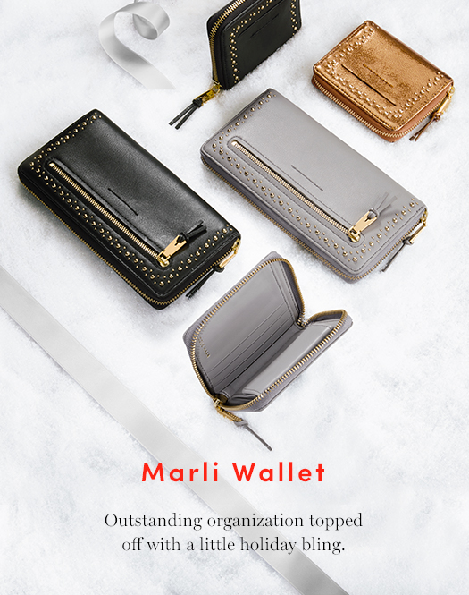 Marli Wallet: Outstanding organization topped off with a little holiday bling.