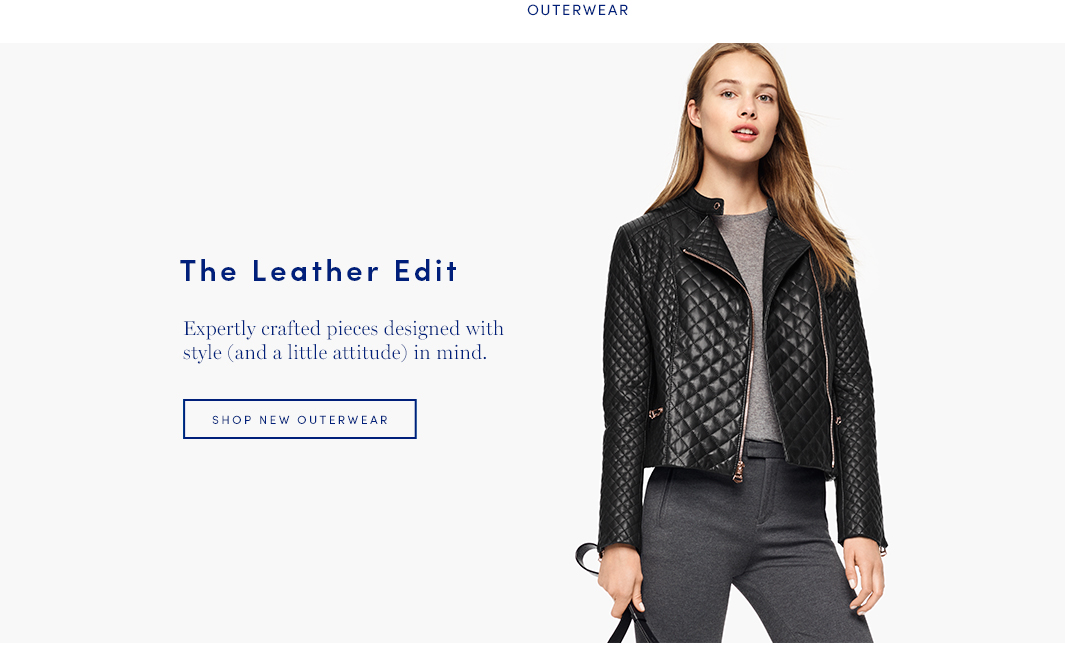 The Leather Edit: Expertly crafted pieces designed with style (and a little attitude) in mind