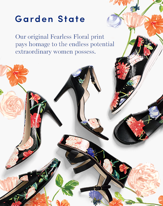 Garden State: Our original Fearless Floral print pays homage to the endless potential extraordinary women possess.