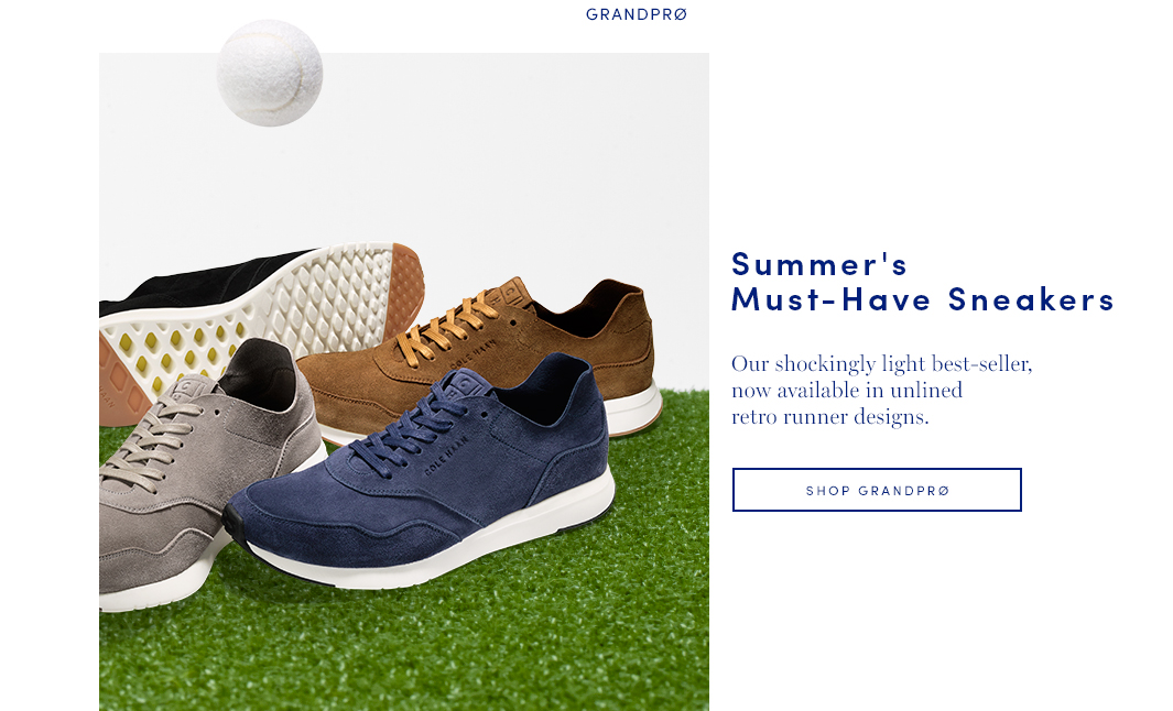 Summer's Must-Have Sneakers: Our shockingly light best-seller, now available in unlined retro runner designs. Shop Men's GrandPro