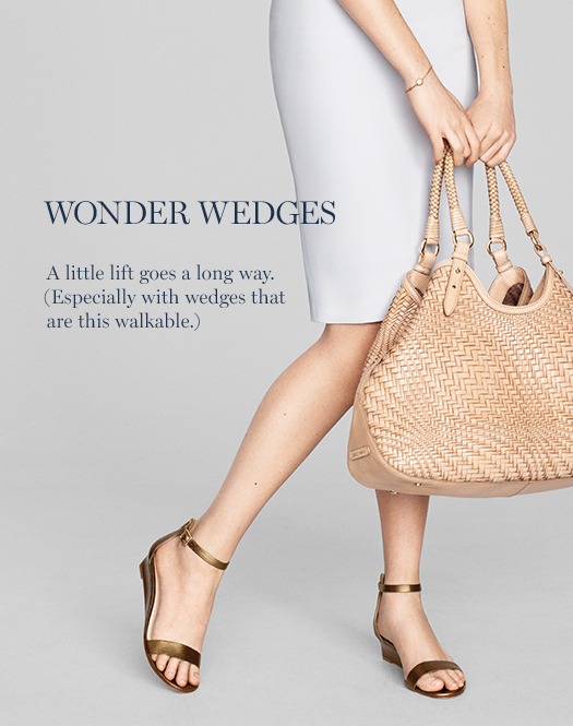 Wonder Wedges: A little lift goes a long way, especially with wedges that are this walkable.