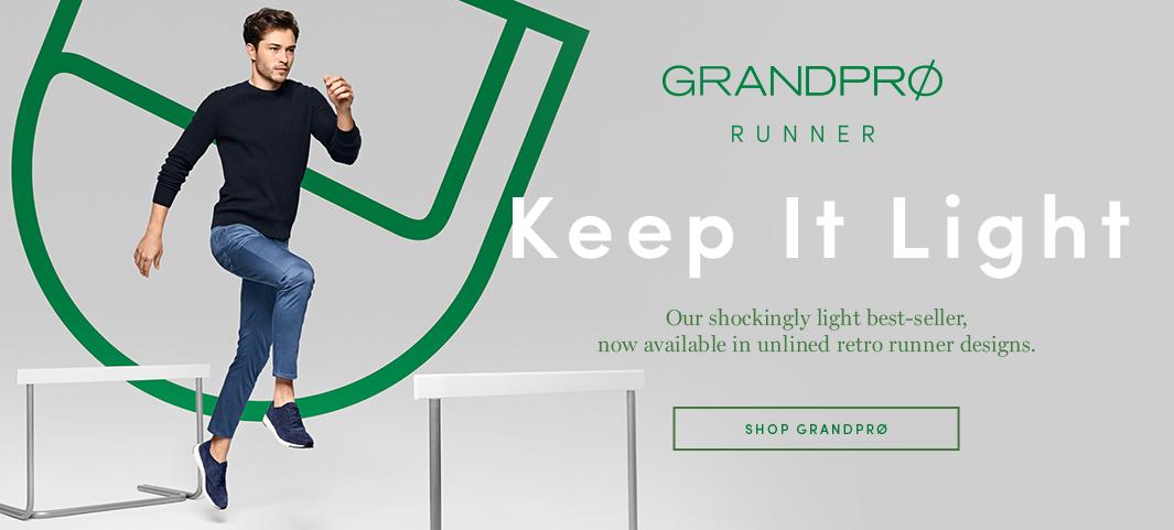GrandPrø Tennis: Our shockingly light best-seller, now available in unlined retro runner designs.