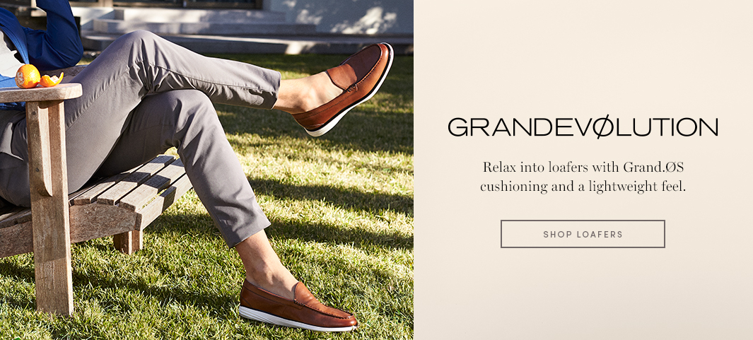 GRANDEVØLUTION - Relax into loafers with Grand.ØS cushioning and a lightweight feel.