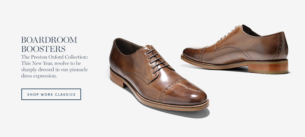 The Preston Oxford Collection: This New Year, resolve to be sharply dressed in our pinnacle dress expression.