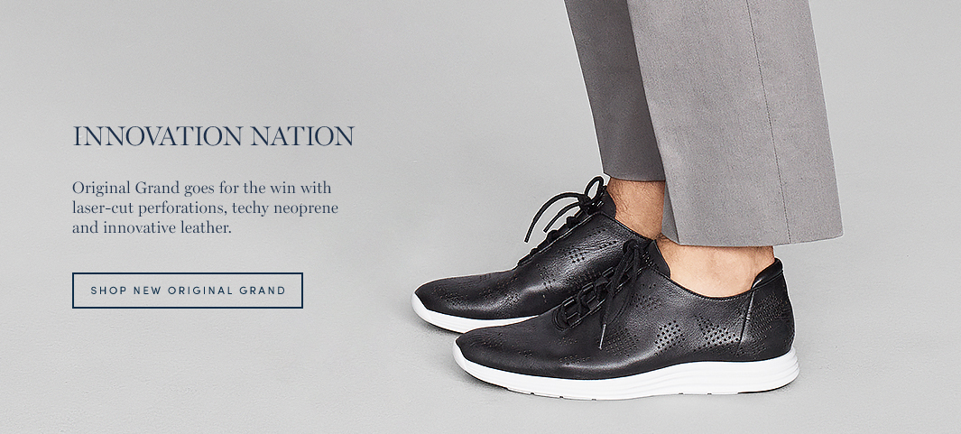 Innovation Nation: Original Grand goes for the win with laser-cut perforations, techy neoprene and innovative leather.