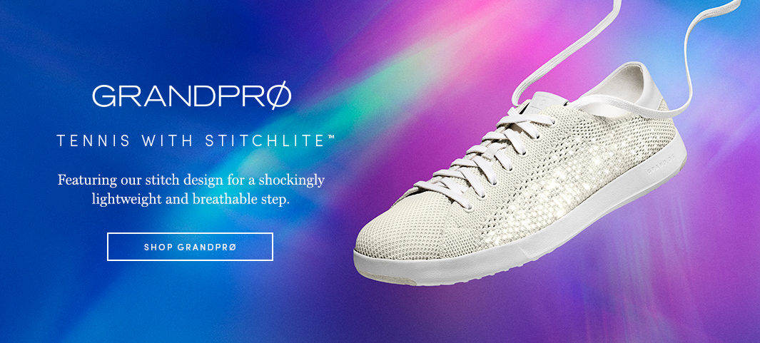 GrandPrØ Tennis with Stitchlife Featuring our stitch design for a shockingly lightweight and breathable step.