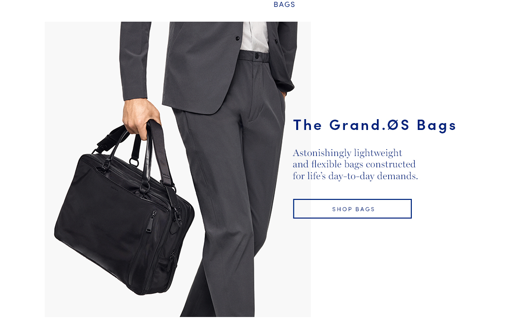 The Grand.OS Bags: Astonishing lightweight and flexible bags constructed for life's day-to-day demand