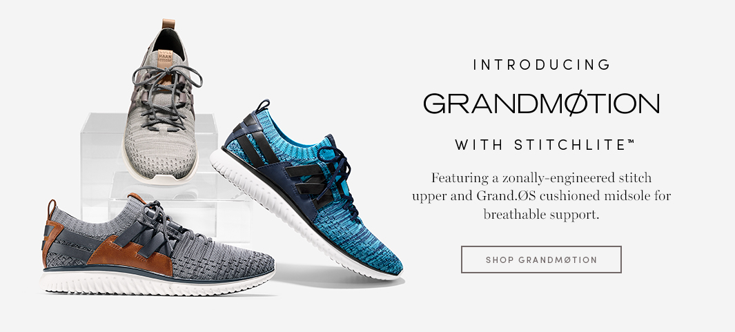 Introducing GrandMotion with Stitchlite - Featuring a zonally-engineered stitch upper and Grand.OS cushioned midsole for breathable support