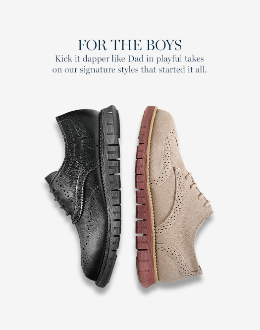 For the Boys: Kick it dapper like Dad in playful takes on our signature styles that started it all.