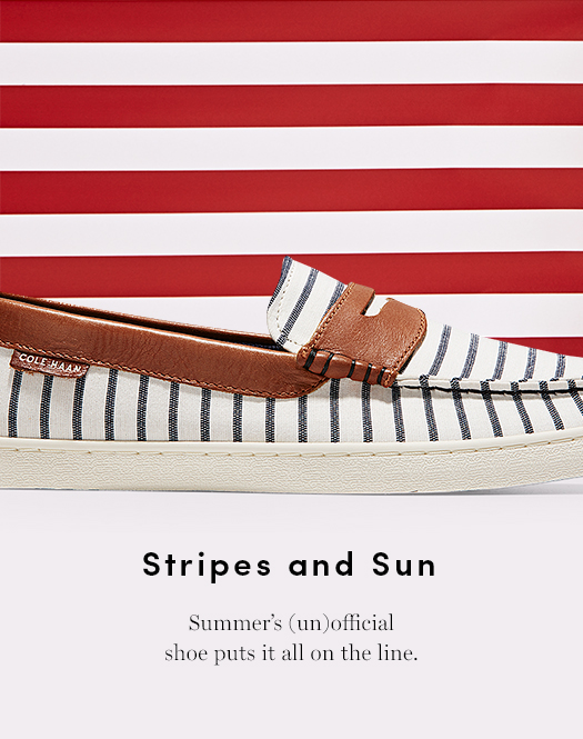 Stripes and Sun: Summer's (un)official shoe puts it all on the line.