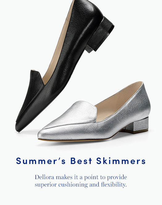 Summer's Best Skimmers: Dellora makes it a point to provide superior cushioning and flexibility.
