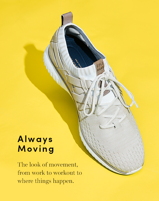 Always Moving: the look of movement, from work to workout to where things happen.