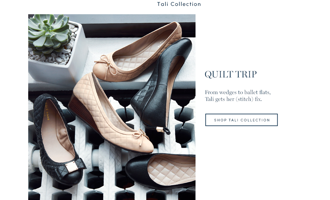 Quilt Trip. From wedges to ballet flats, Tali gets her (stitch fix)