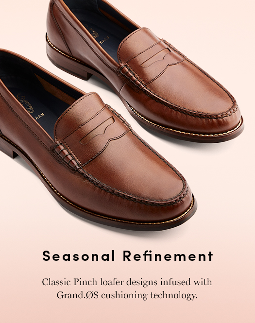 Seasonal Refinement: Classic Pinch loafer designs infused with Grand.OS cushioning technology.