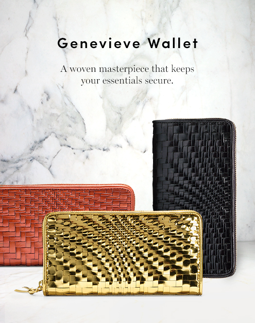 Genevieve Wallet: A woven masterpiece that keeps your essentials secure.