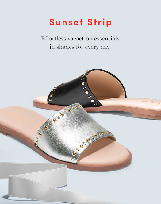 Sunset Strip: Effortless vacation essentials in shades for every day.