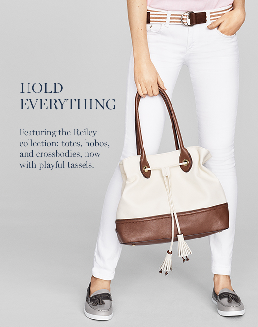 Featuring the Reiley collection: totes, hobos, and crossbodies, now with playful tassels.