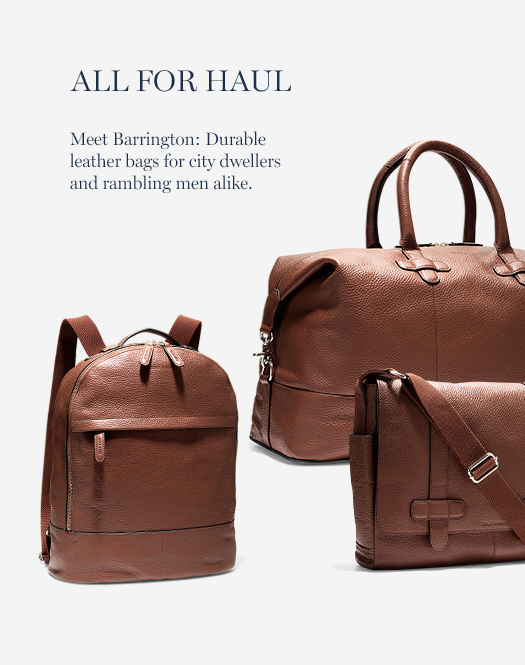 Meet Barrington: Durable leather bags for city dwellers and rambling men alike.