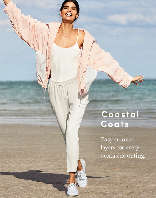 Coastal Coats - Easy summer layers for every oceanside outing.