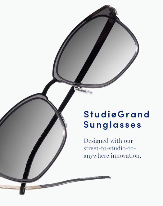 StudiøGrand Sunglasses: Designed with our street-to-studio-to-anywhere innovation.