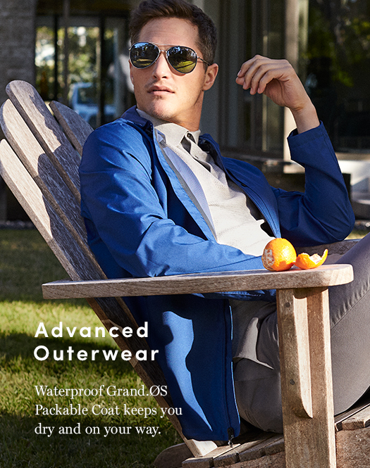 Advanced Outerwear - Waterproof Grand.Os Oackable Coat keeps you dry and on your way.