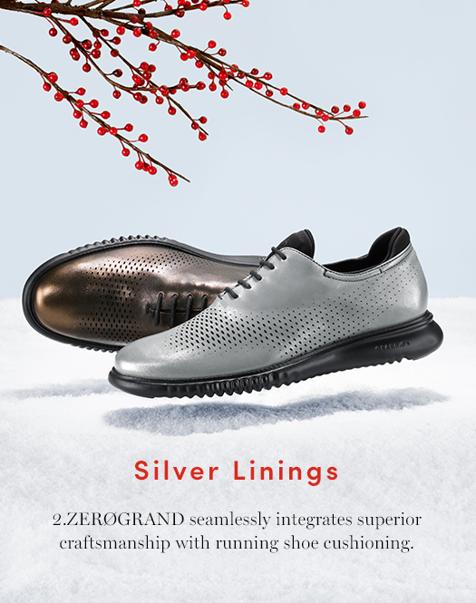 Silver Linings: 2.ZERØGRAND seamlessly integrates superior craftsmanship with running shoe cushioning.