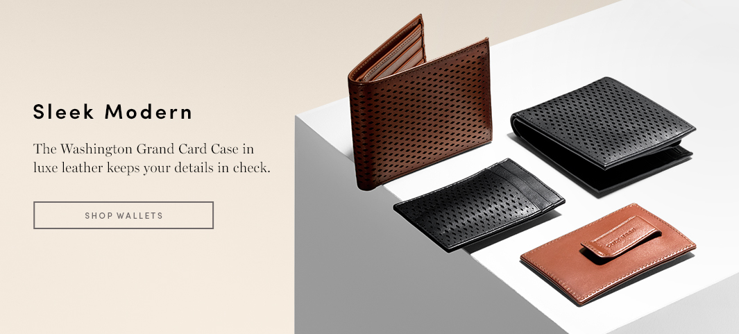 Sleek Modern - The Washington Grand Card Case in luxe leather keeps your details in check