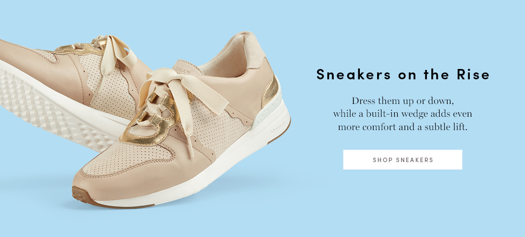 Sneakers on the Rise: Dress them up or down, while a built-in wedge adds even more comfort and a subtle lift.
