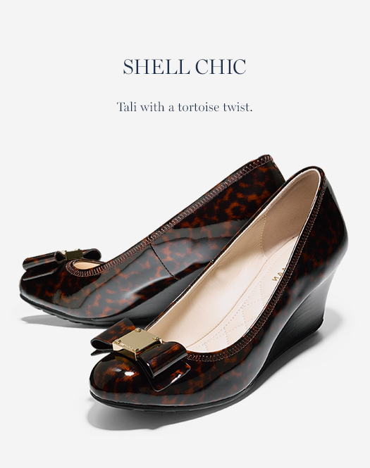 Shell Chic: Tali with a tortoise twist.