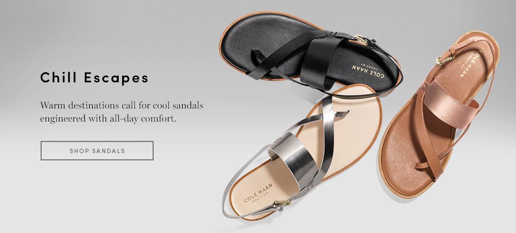 Chill Escapes - Warm Destinations call for cool sandals