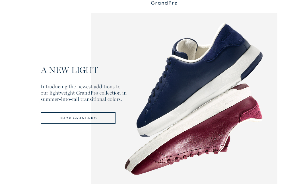 A New Light. Introducing the newest additions to our lightweight GrandPro collection in summer-into-fall transitional colors