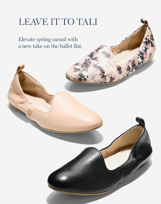 Leave it to Tali: Elevate spring casual with a new take on the ballet flat.