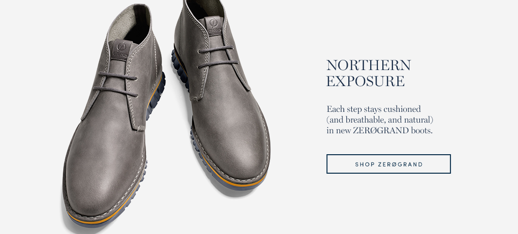 Northern Exposure: Each step stays cushioned (and breathable, and natural) in new ZERØGRAND boots.