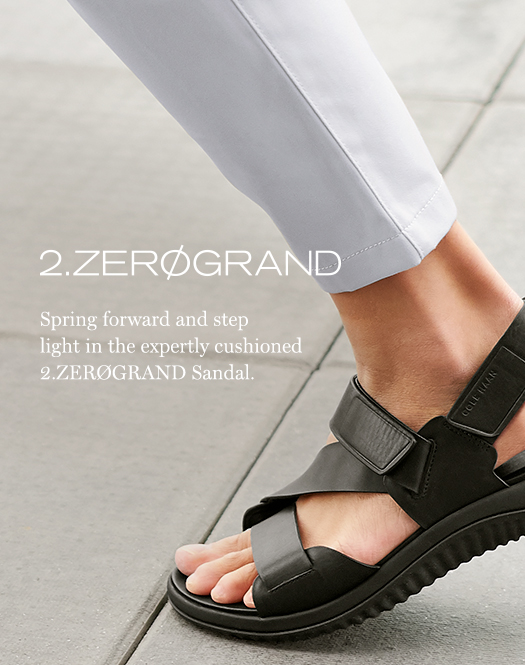 2.Zerøgrand - Spring forward and step light in the expertly cushioned 2.Zerøgrand sandal