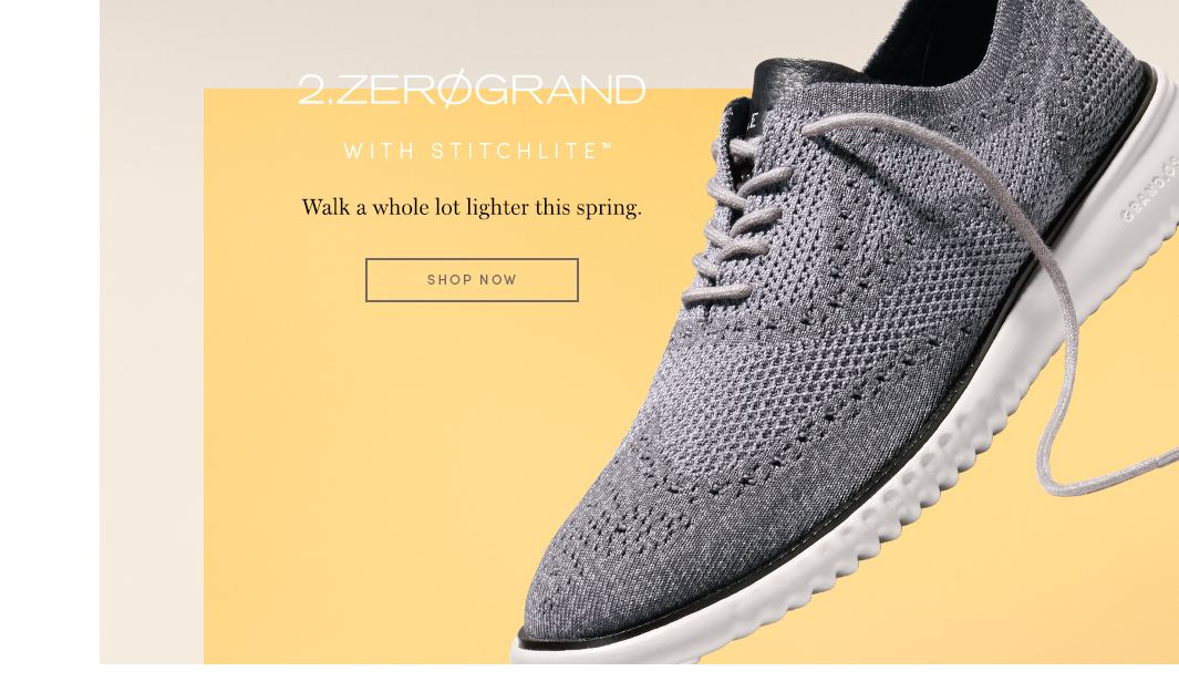 2.ZERØGRAND With Stitchlite - Walk a whole lot lighter this spring