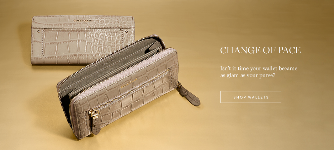 Change of Pace: Isn't it time your wallet became as glam as your purse?