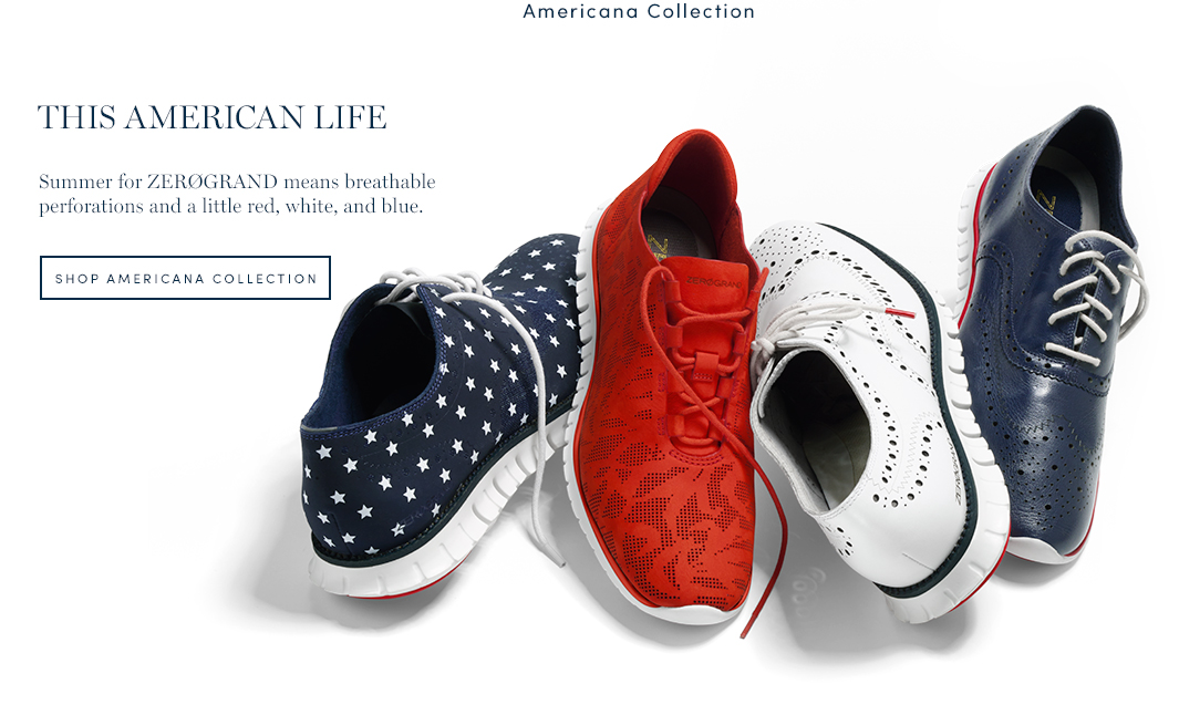 This American Life. Summer for ZeroGrand means breathable perforations and a little red, white, and blue. Shop American Collection