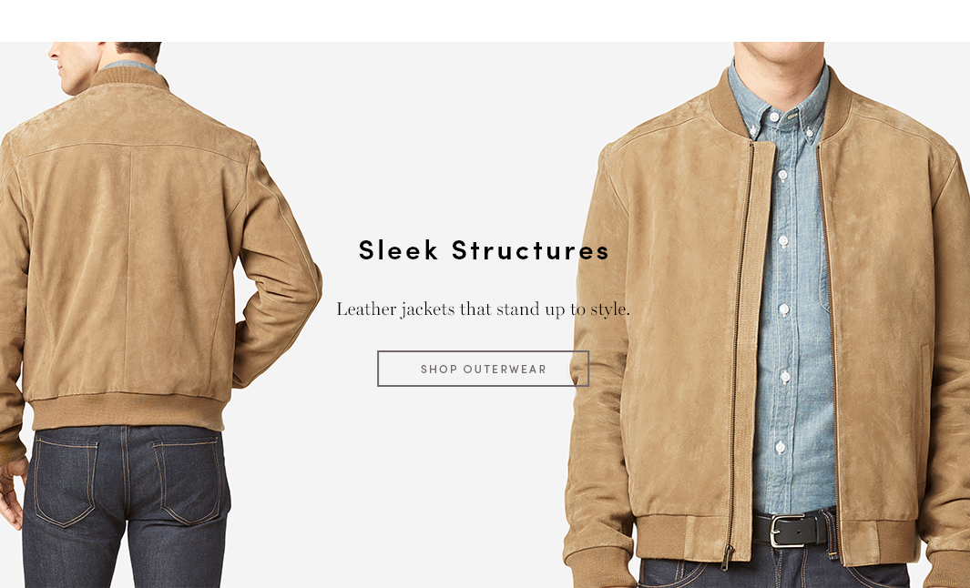 Sleek Structures - Leather jackets that stand up to style