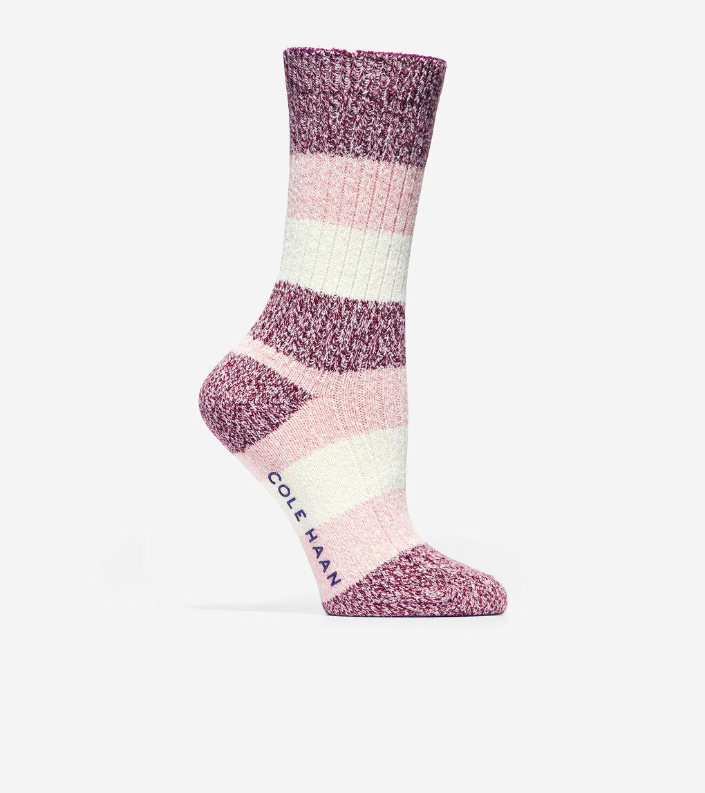 WOMENS Plush Twist Crew Socks