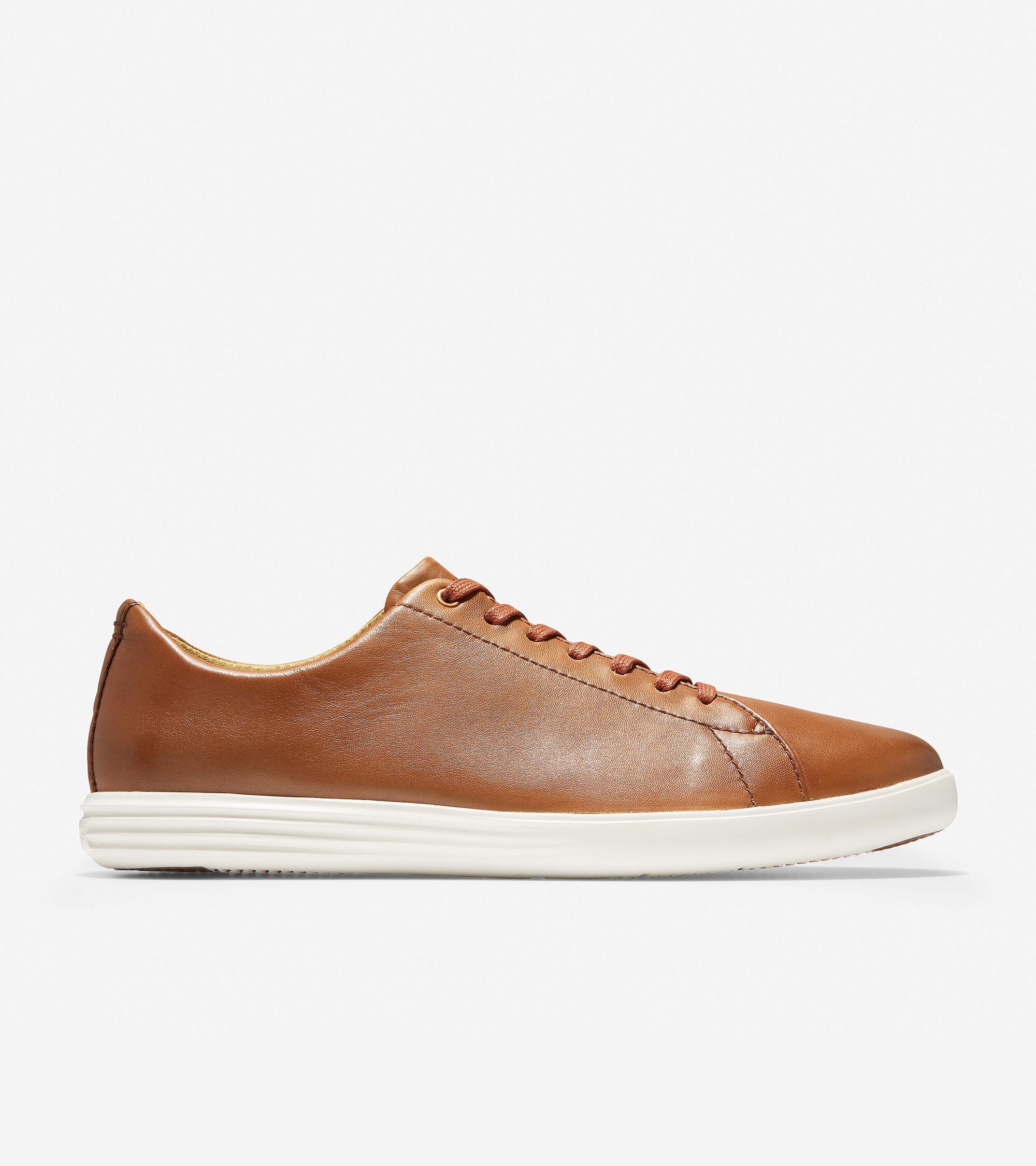 521c798a6ba Men s Grand Crosscourt Sneakers in Tan Leather