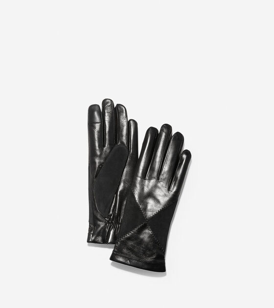 Accessories > Suede Diamond Leather Gloves