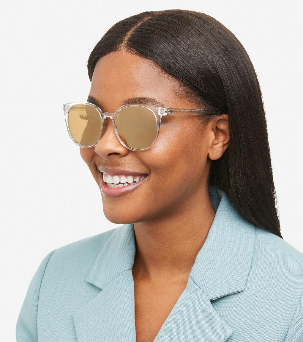 Womens Classic Round Sunglasses