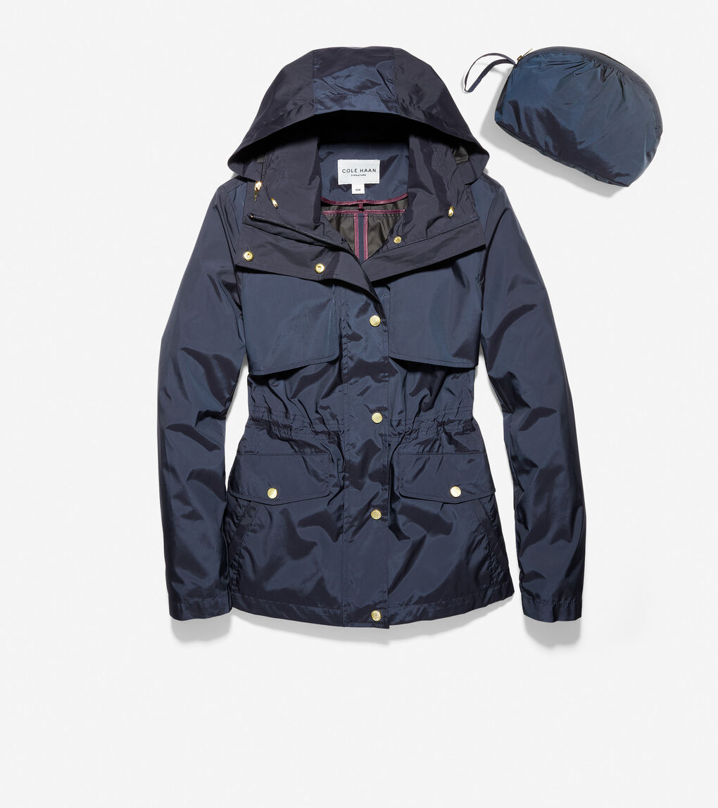 WOMENS Short Packable Rain Jacket