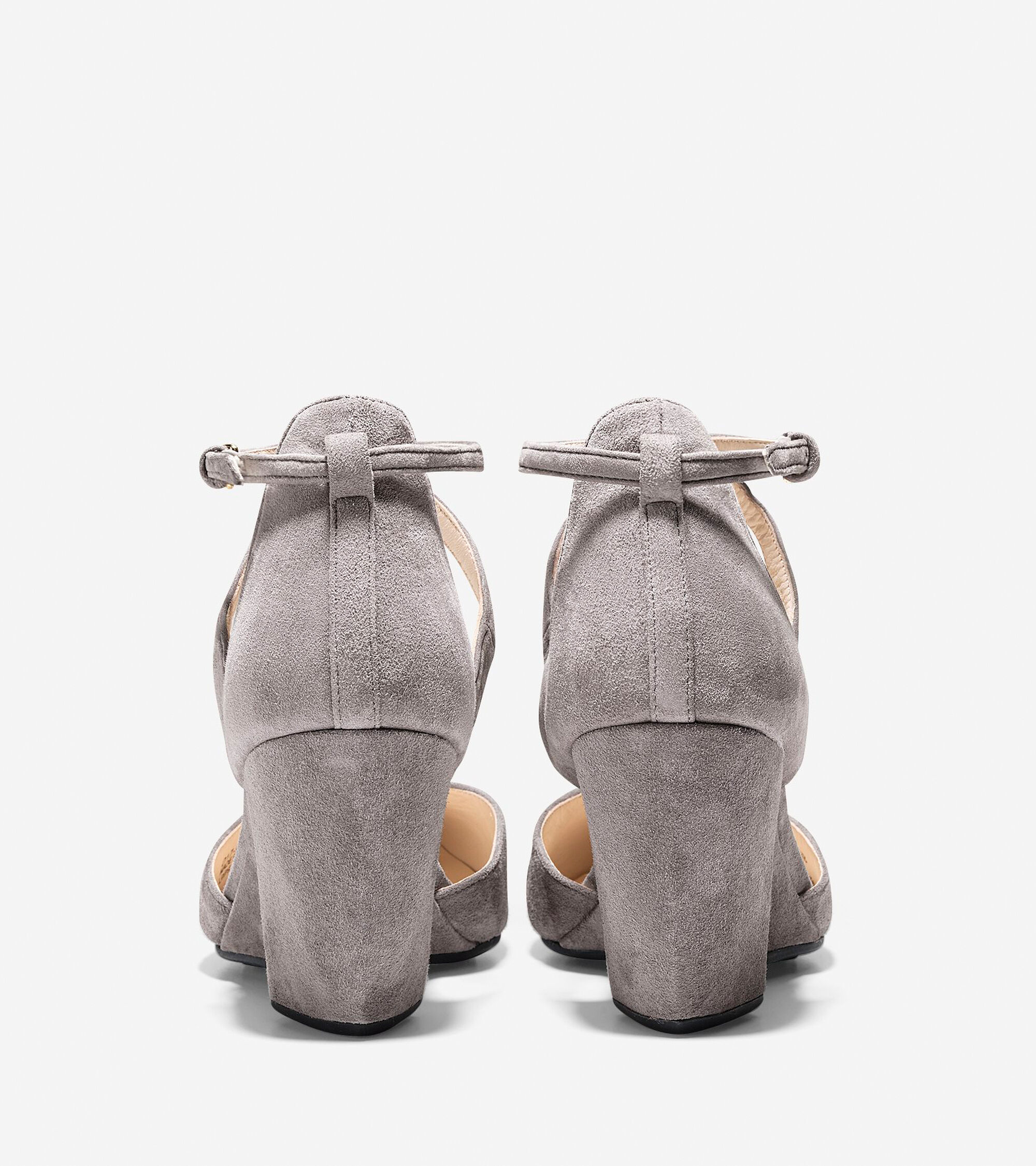 4c76c2c10c6a Women s Lacey Ankle Strap Wedges 75mm in Stormcloud